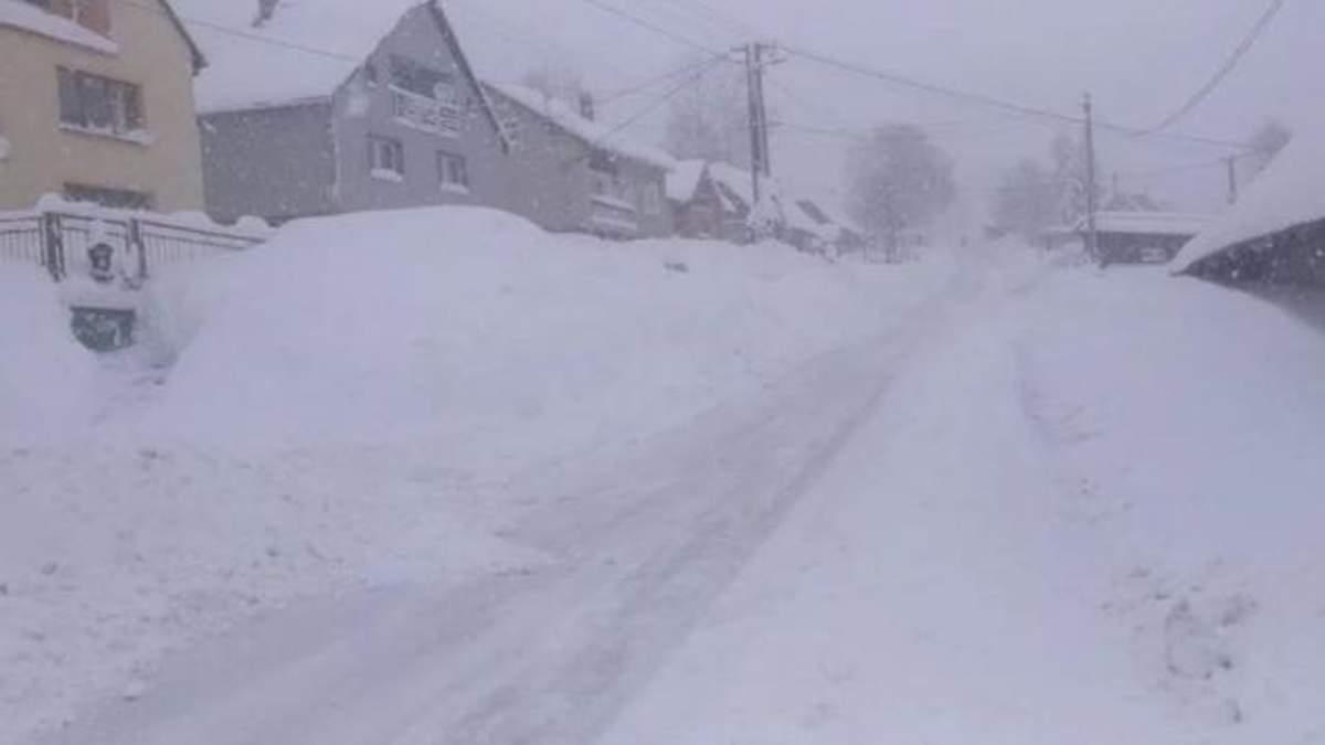 Сніг у Словаччині