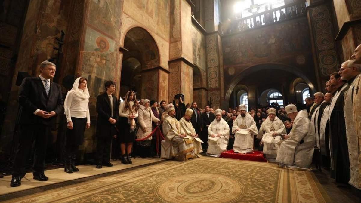 Рождественская божественная литургия в Софии Киевской