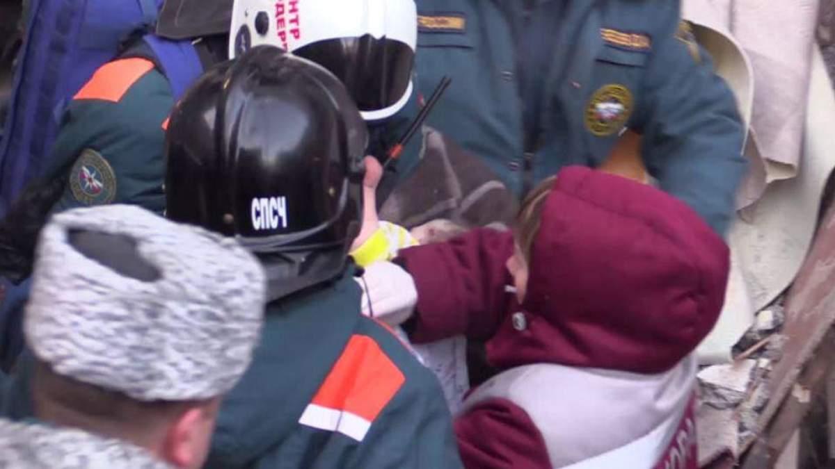 Момент спасения ребенка в Магнитогорске