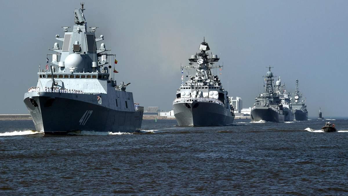 Российские корабли проведут ракетные стрельбы в Средиземном море