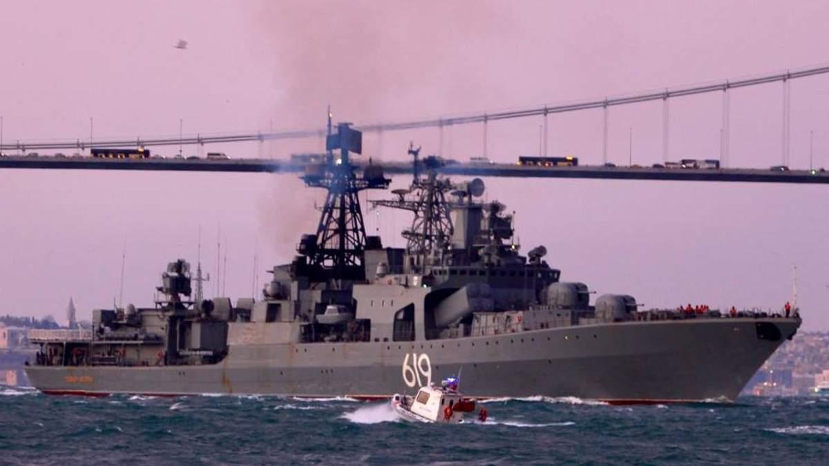 Бойовий корабель РФ зайшов у Чорне море: у ВМС розповіли, куди прямує судно