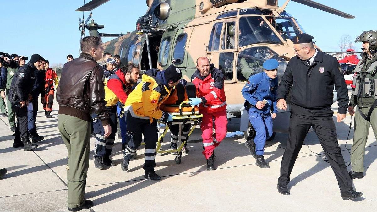 Кадр снят во время спасательной операции в Турции