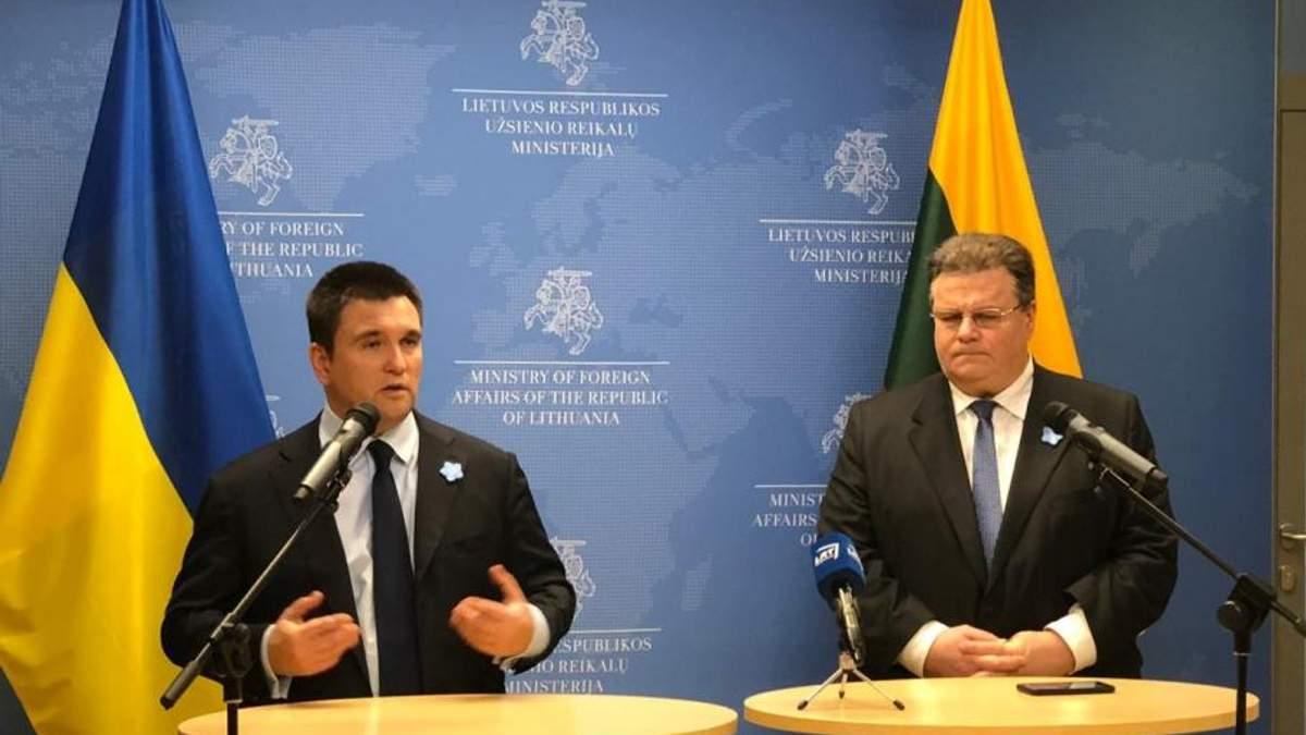 Главы украинского и литовского МИД обсудили агрессию РФ