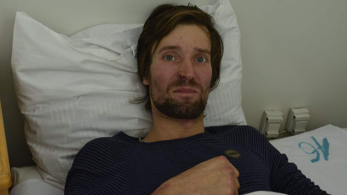Врятований у Карпатах лижник Ігор Грищенко в лікарні