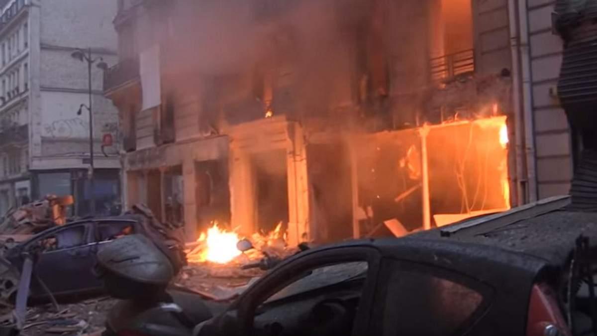 Взрыв в Париже сегодня 12 января 2019: видео, снятое сразу после взрыва