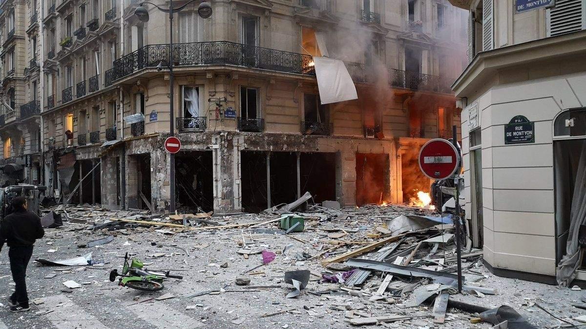 Взрыв в парижской пекарну