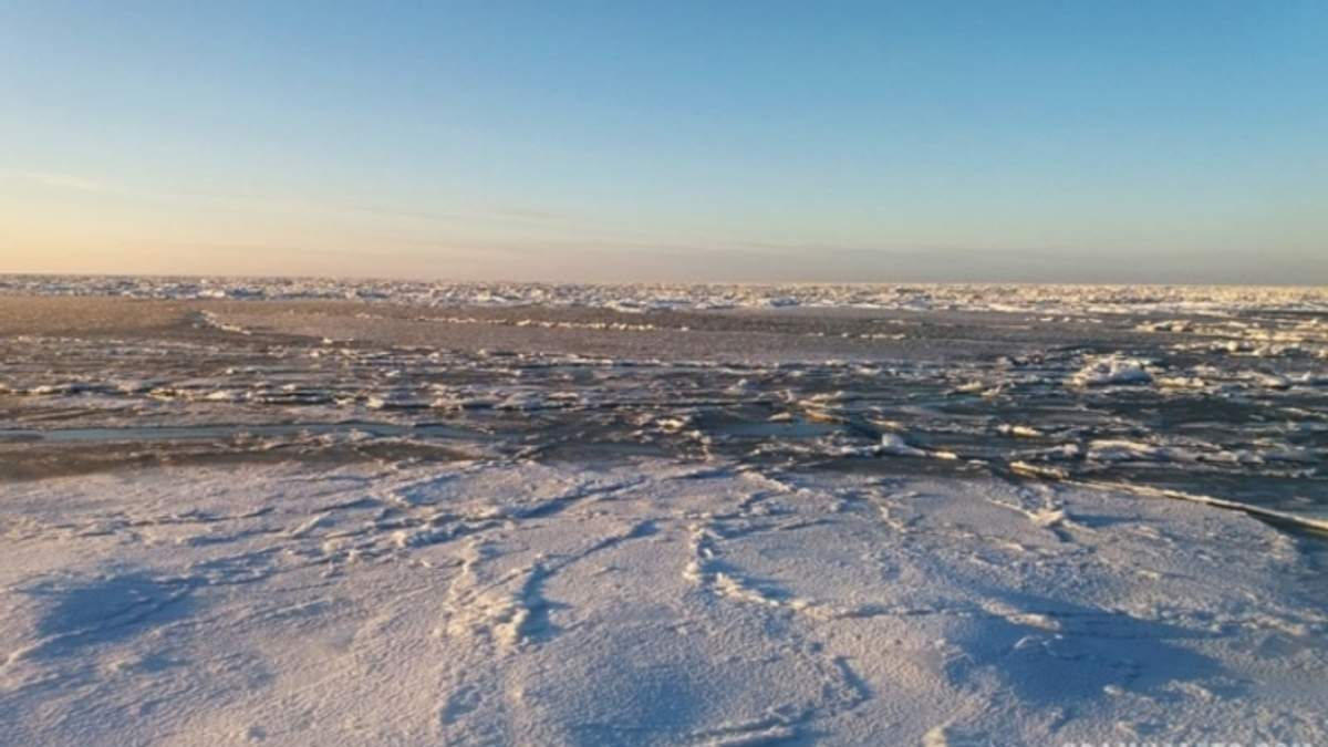 В Кирилловке на Запорожье замерзло Азовское море