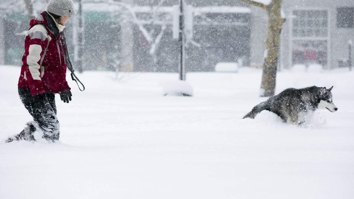 Украину накрывают снегопады