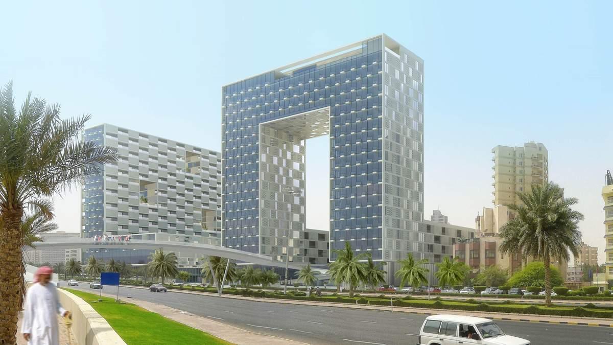Ворота в затоку: українське бюро представило проект неординарної будівлі в Кувейті