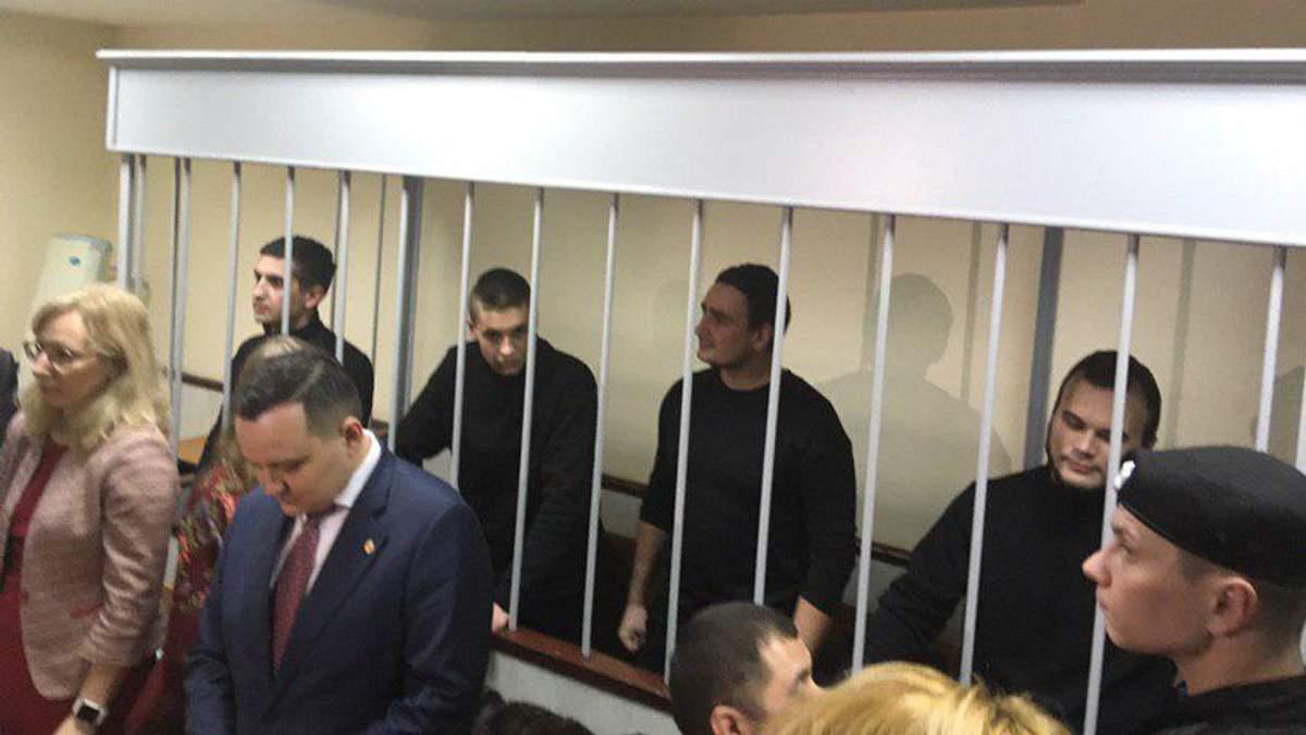 Пленные украинские моряки Олег Мельничук, Андрей Артеменко, Андрей Эйдер и Василий Сорока