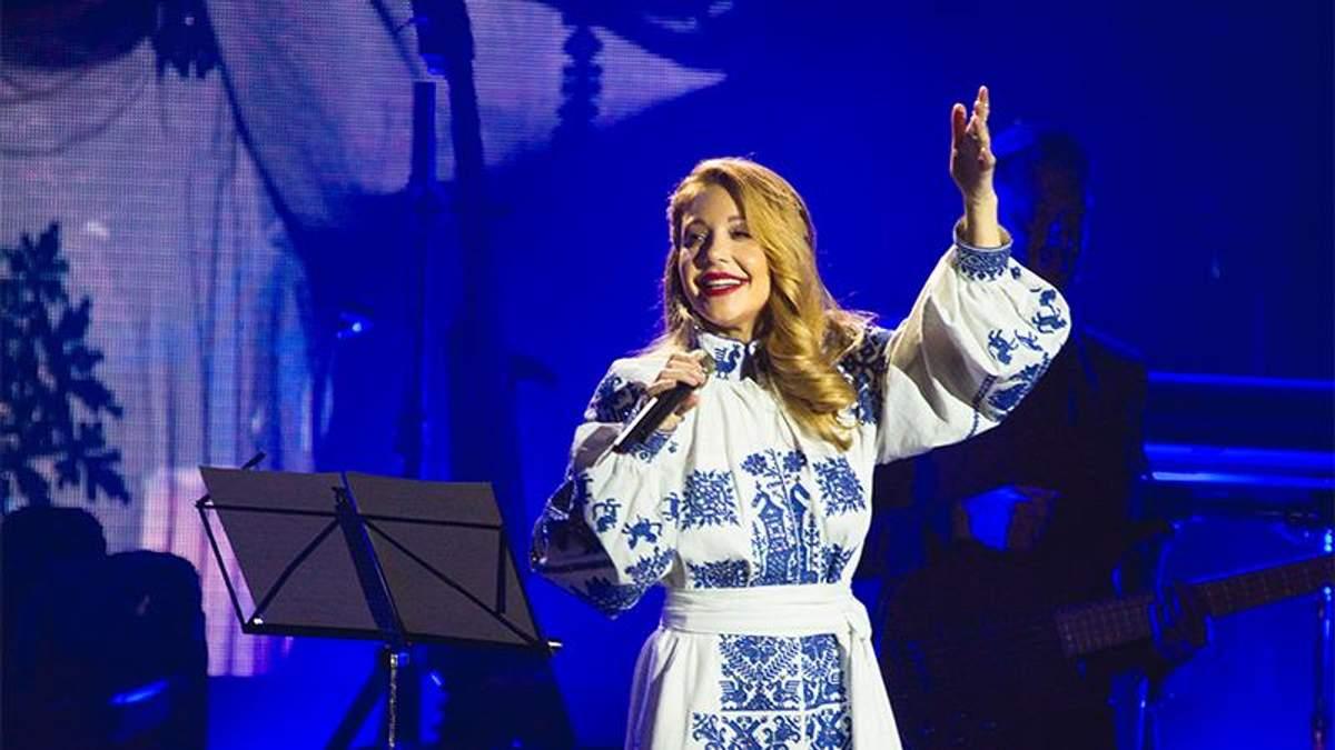 Тина Кароль на выступлении во Львове