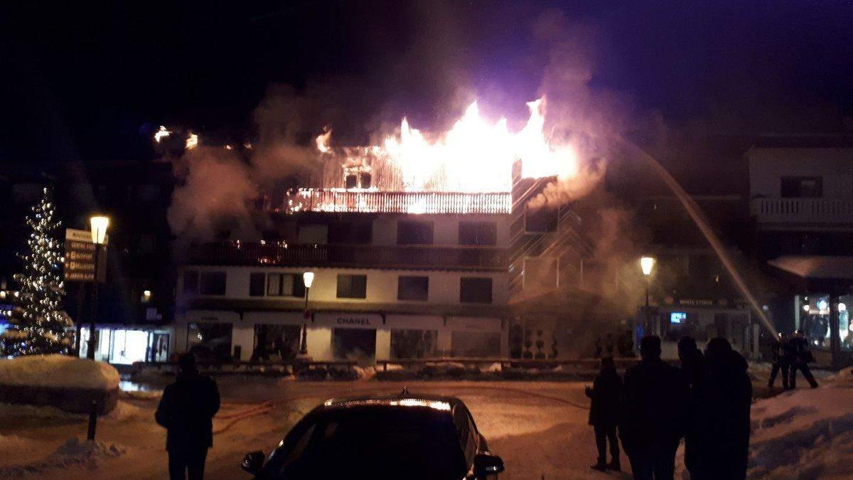 Пожар в Куршавеле 20 января 2019 - видео и фото пожара в Куршавеле