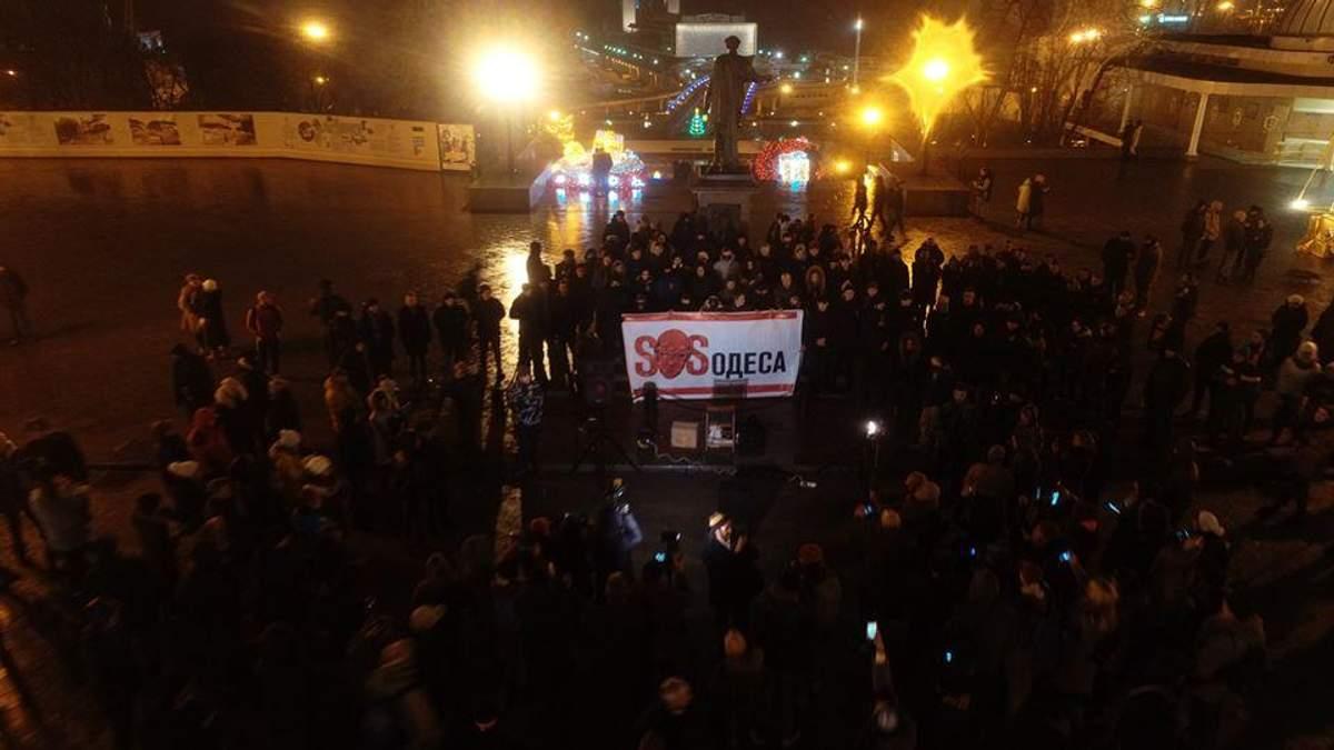 SOS Одесса - огни в 20 городах Украины, чтобы сохранить Одессу