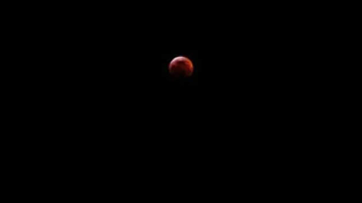 Місячне затемнення 21 січня 2019 - фото, відео