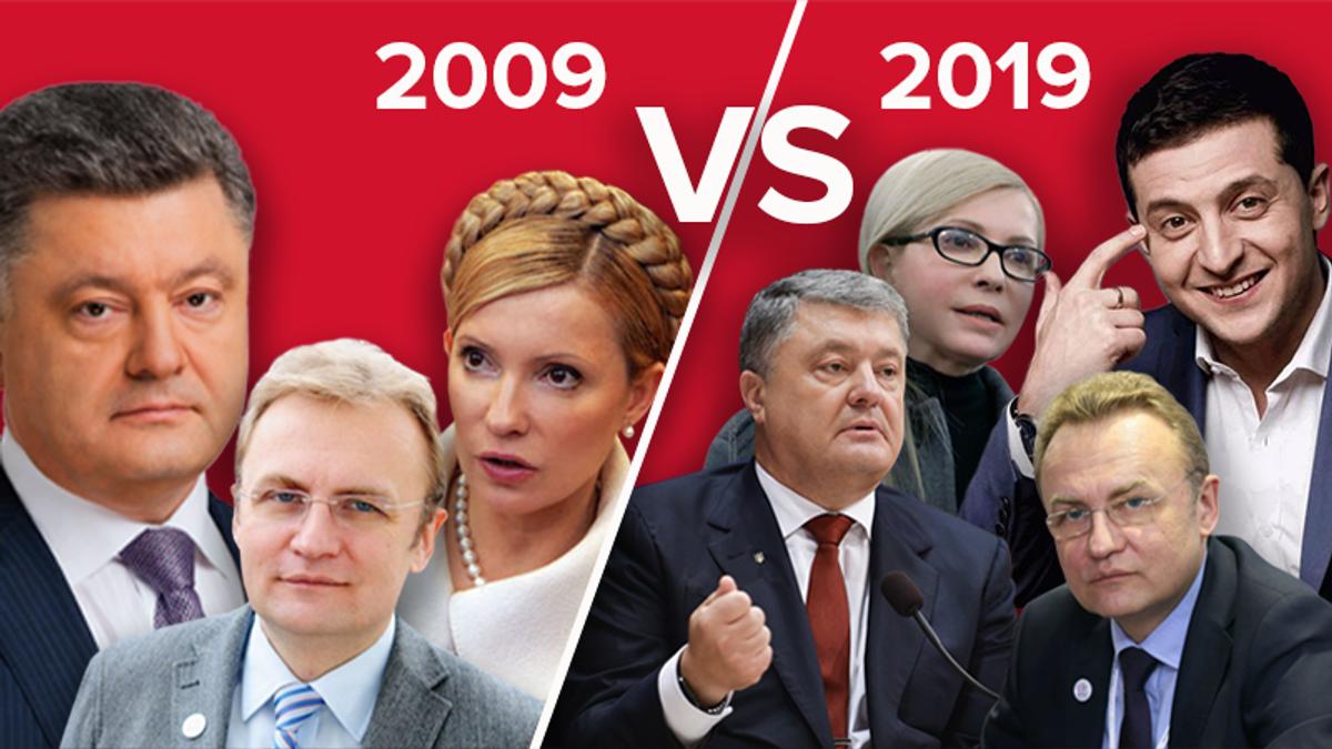 Як змінились топ-кандидати у президенти за 10 років: вражаючі факти