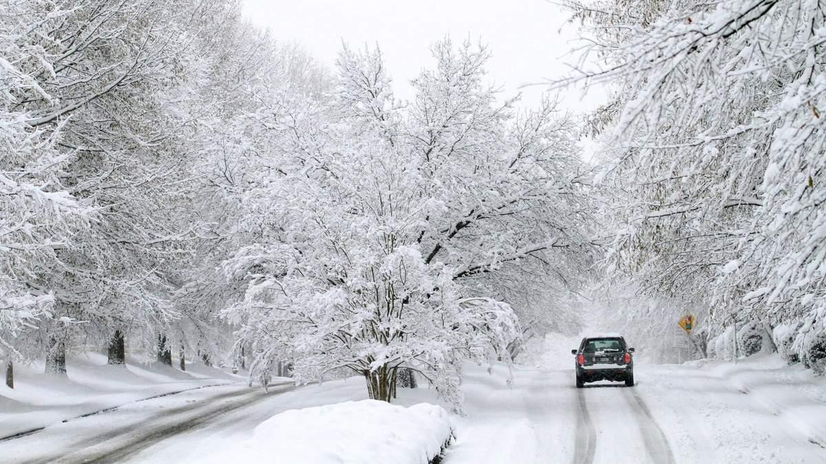 В Украину идут снегопады и метели