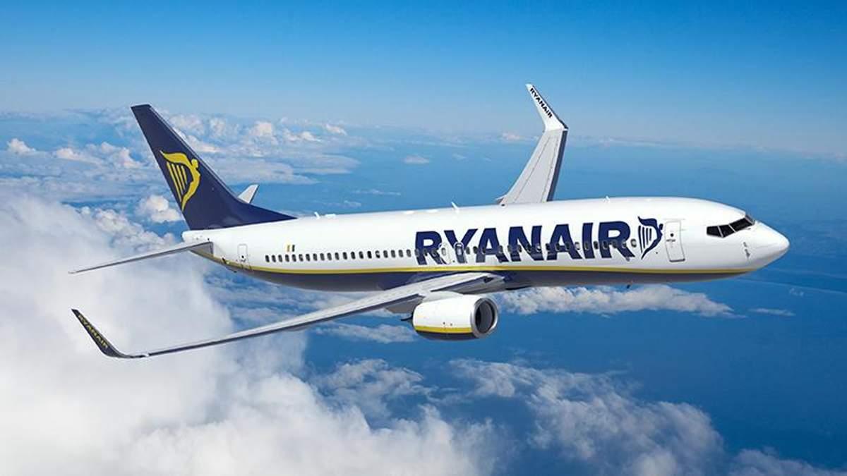 Ryanair відкриє для України чотири нові напрямки