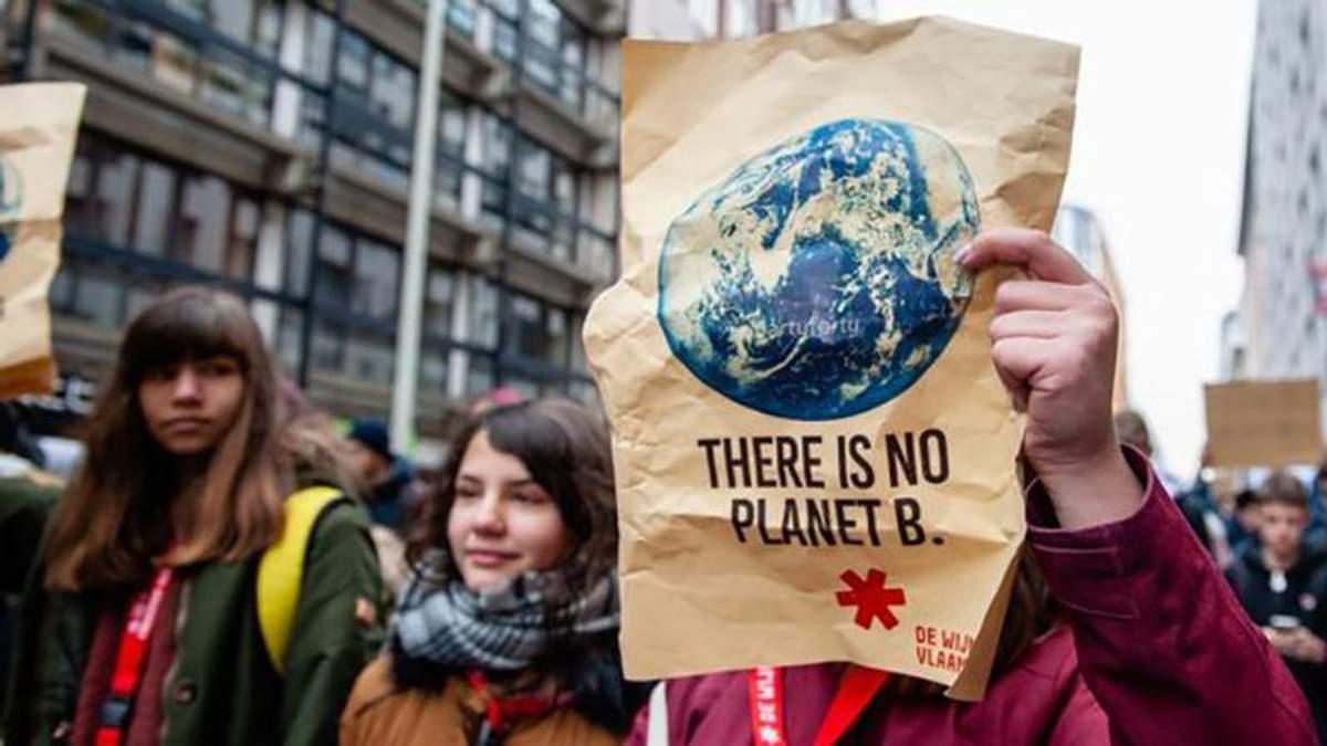 """Планеты """"Б"""" не существует: по всей Европе дети вышли на экологические марши – фото и видео"""