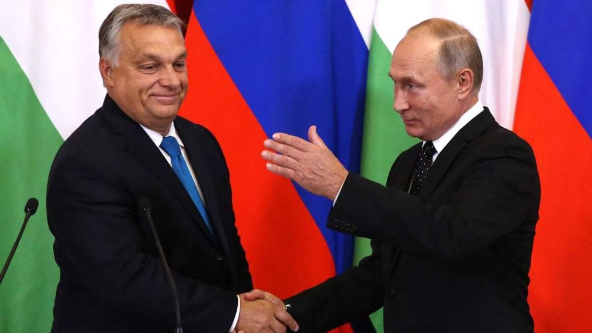 Віктор Орбан та Володимир Путін