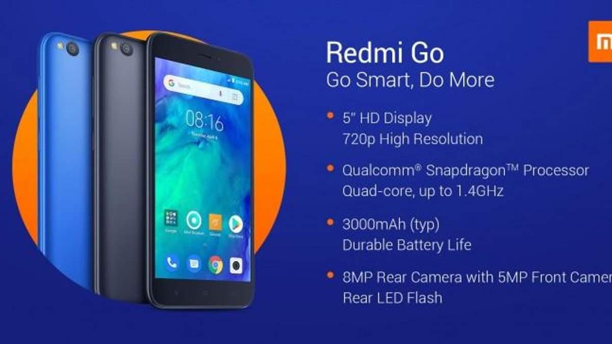 Xiaomi Redmi Go - цена и фото новинки Xiaomi