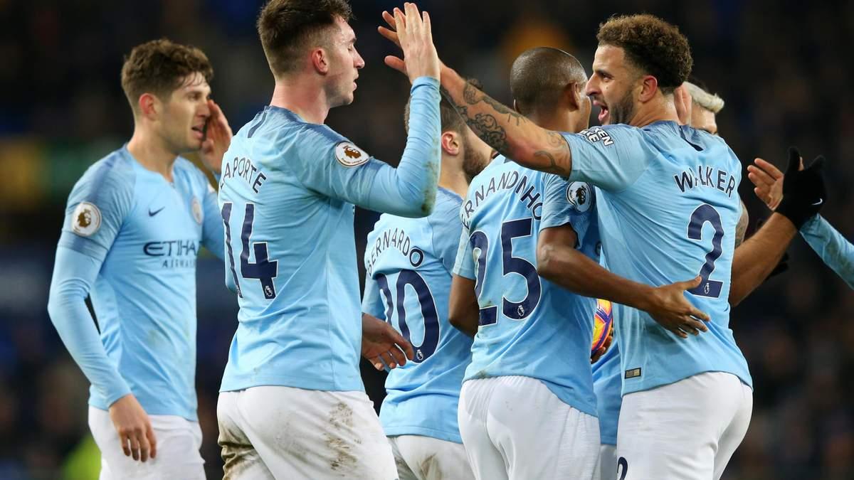 Эвертон – Манчестер Сити: видео голов, обзор матча АПЛ 2018/19