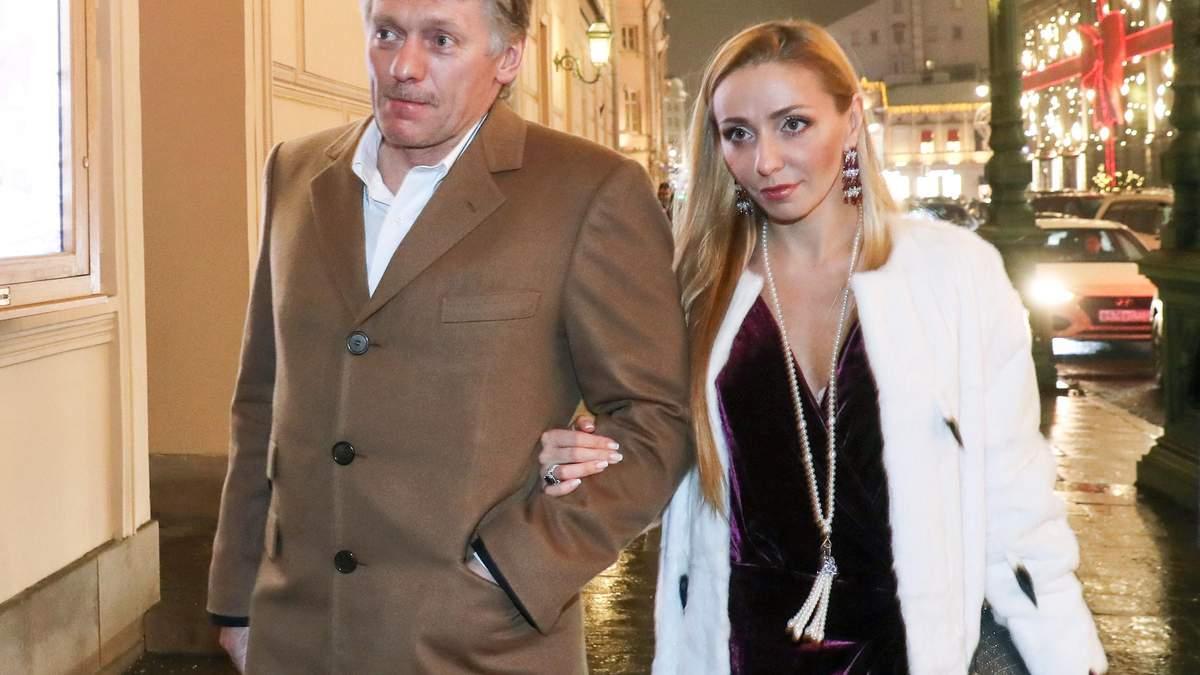 Спикер Путина Дмитрий Песков и его жена Татьяна Навка