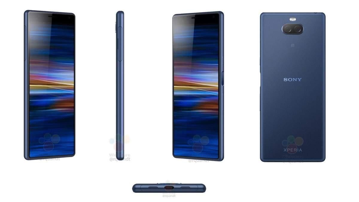 Sony Xperia XA3: рендерські фото