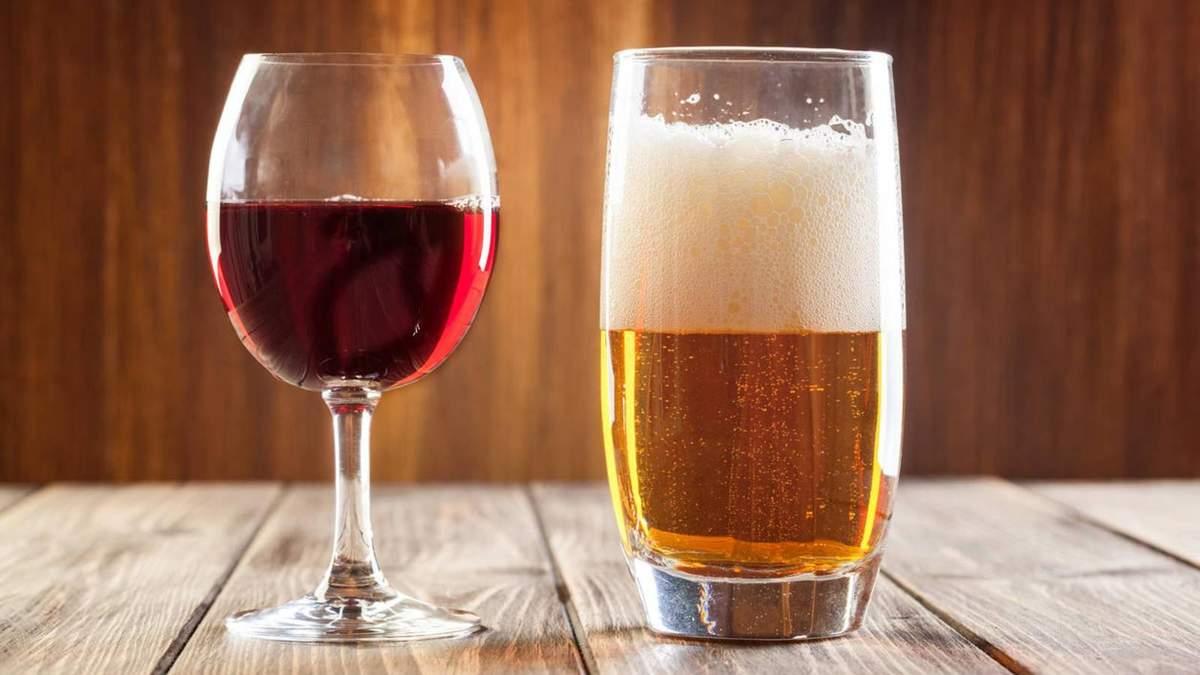 Вчені розвінчали міф про вино та пиво
