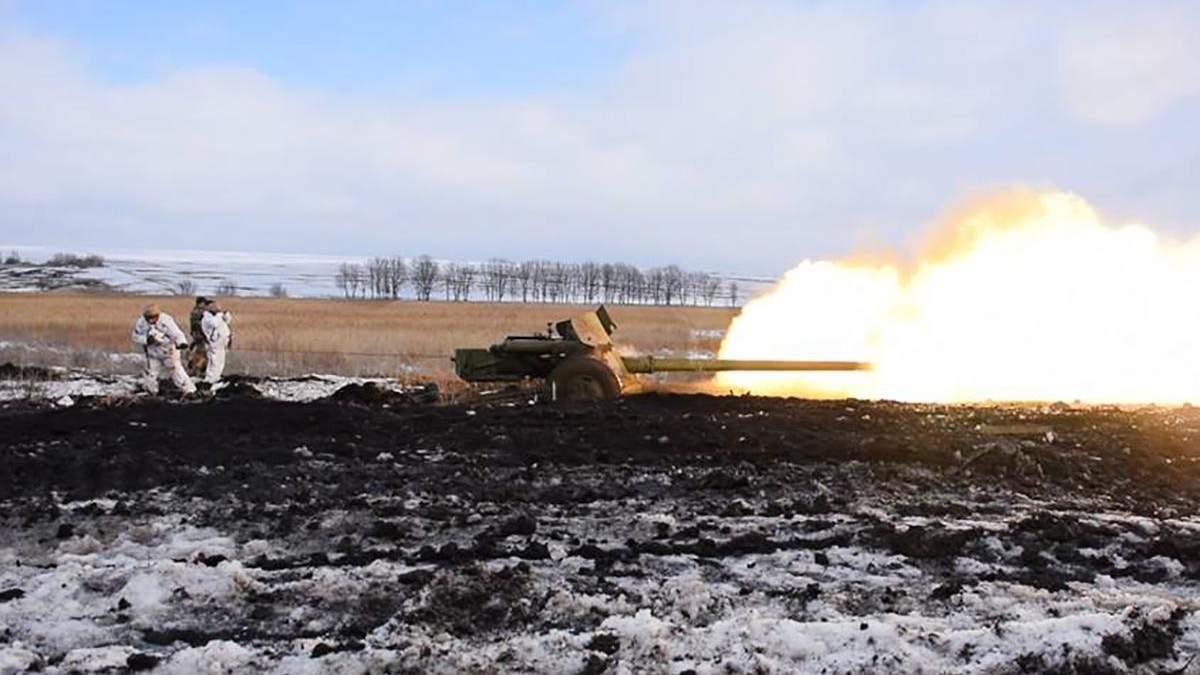 """В зоне ООС на Донбассе украинские военные потренировались стрелять из пушки """"Рапира"""""""