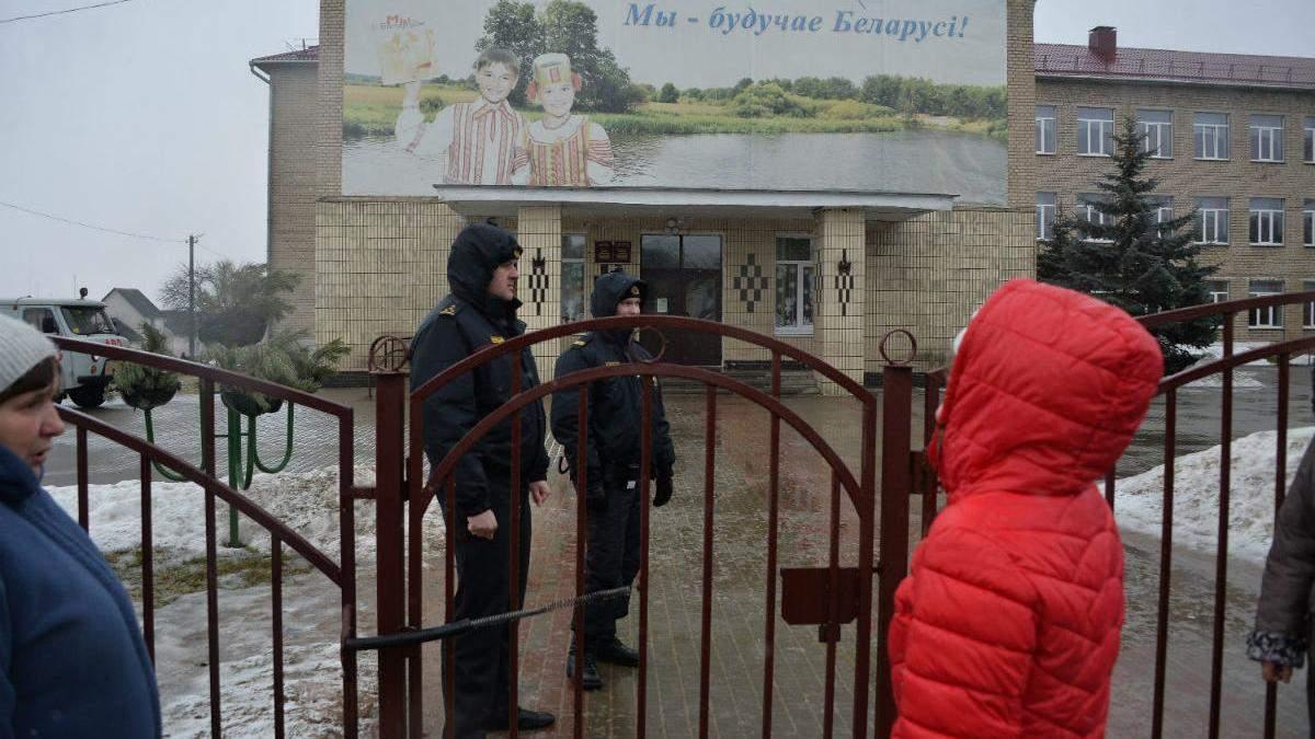 Школа у білоруському місті Столбці, де стався кривавий напад