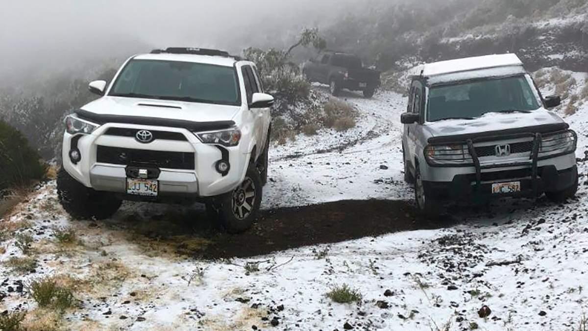 На Гавайях в США выпал снег