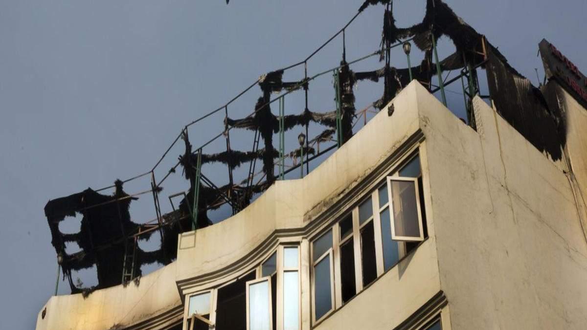 Жахлива пожежа у готелі в Індії: щонайменше 17 людей загинули