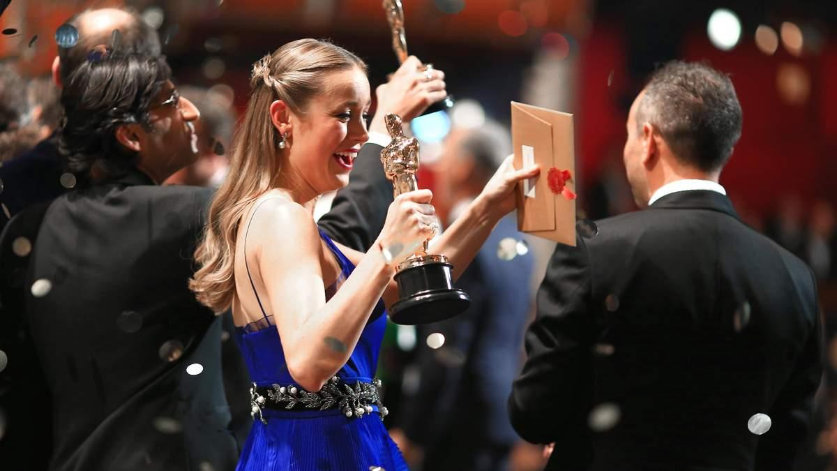 Актриса Бри Ларсон на премии Оскар-2016