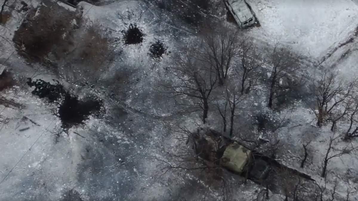 Українські захисники знищили техніку бойовиків на Донбасі