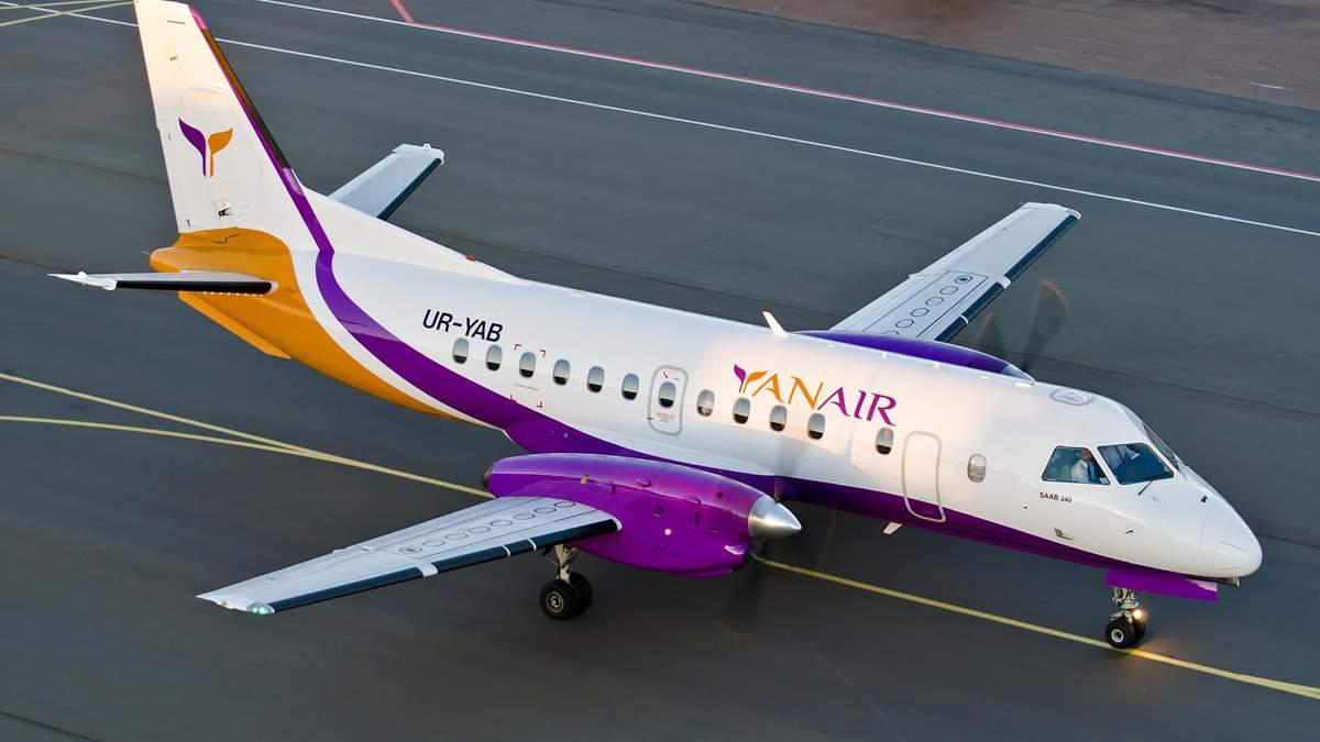 Літак авіакомпанії Yanair