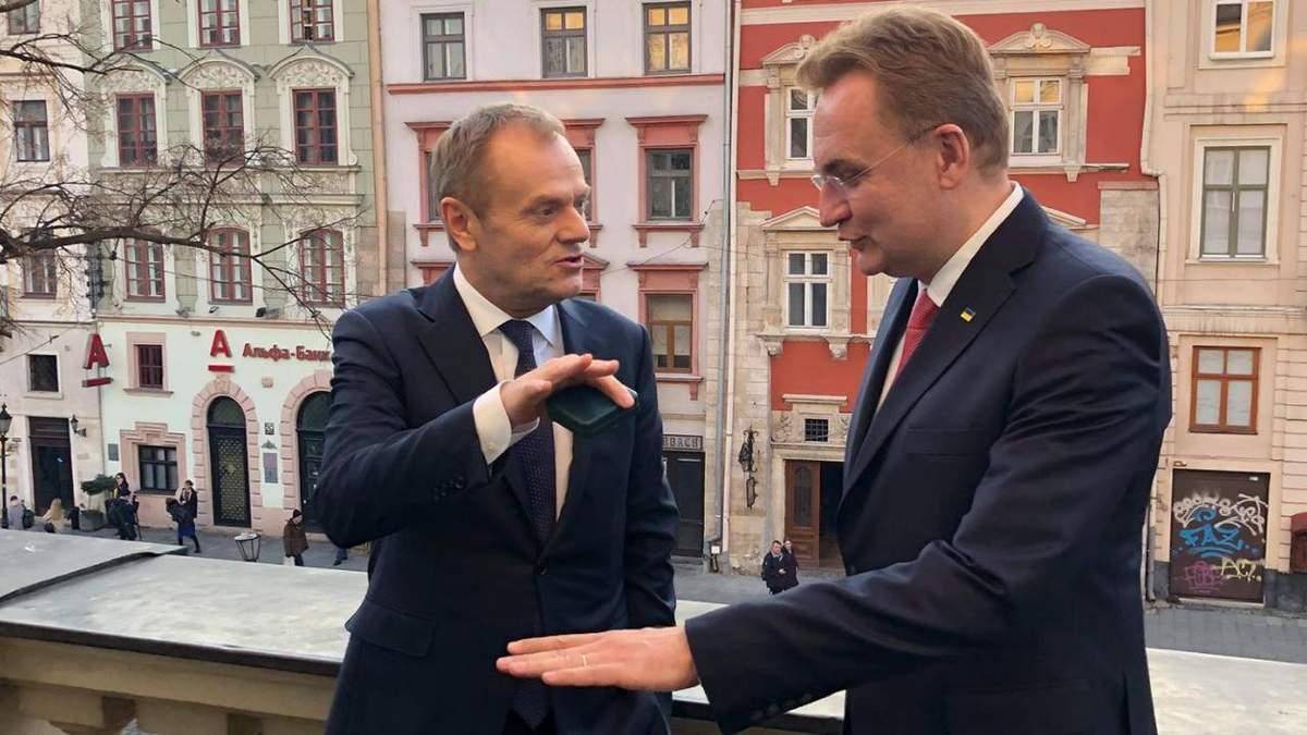 Садовий зустрівся з Головою Європейської Ради Дональдом Туском