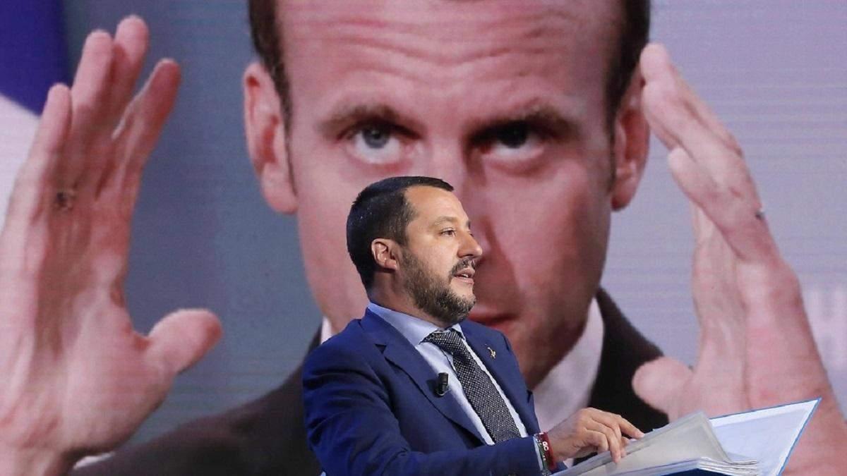 """Віце-прем'єр Італії Сальвініназвав Макрона """"жахливим президентом"""""""