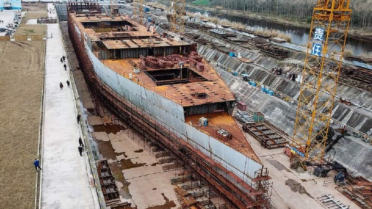 """Китайську копію """"Титаніка"""" збираються побудувати до кінця 2019 року"""