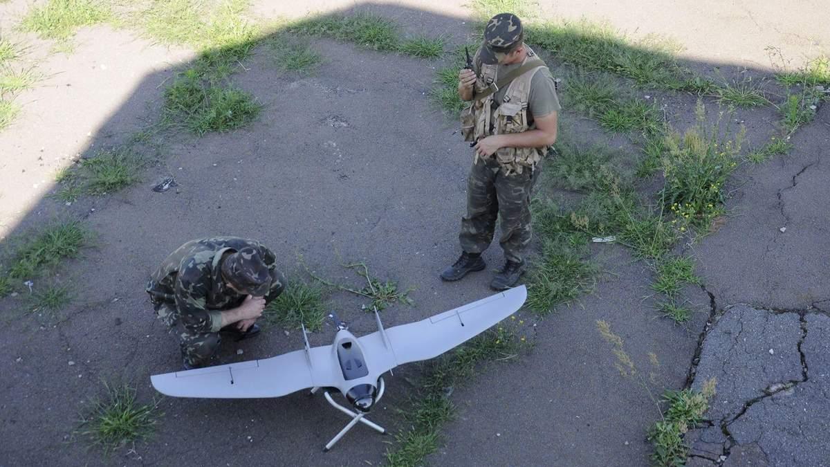 Как беспилотник следит за террористами на Донбассе: смотрите видео