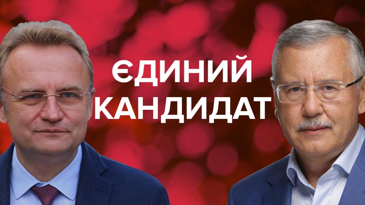 Садовый и Гриценко - Садовой снял свою кандидатуру на выборах 2019 Украины