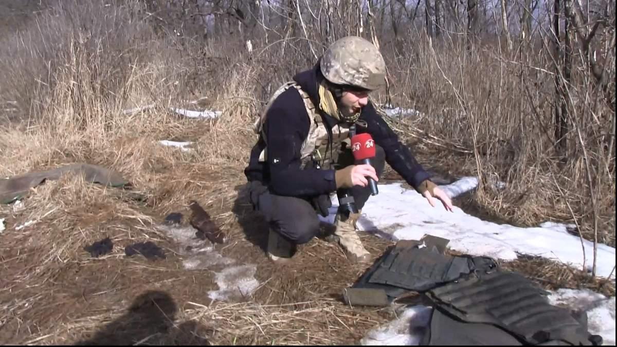 Військовий журналіст показав кадри після обстрілів на Донбасі
