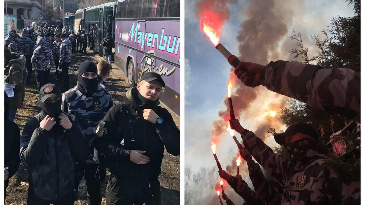 Протест возле дома Гладковского под Киевом - видео и фото