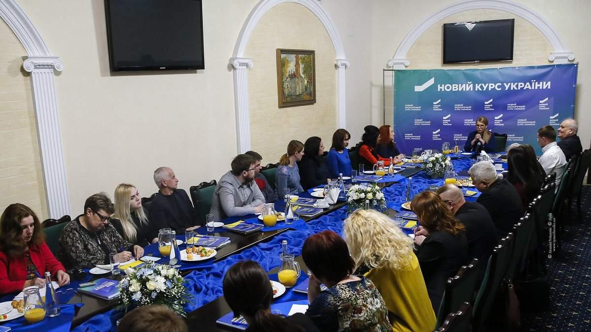 Тимошенко на зустрічі з головними редакторами місцевих ЗМІ Хмельницька