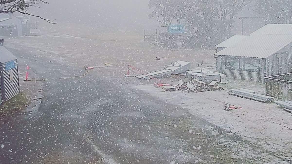 В Австралии после сильной жары неожиданно выпал снег: фото и видео