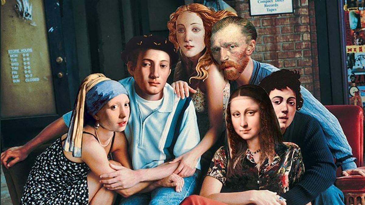 """Татуированный Ван Гог, """"Тайная вечеря"""" на дороге и Мона Лиза в баре: забавные мемы об искусстве"""