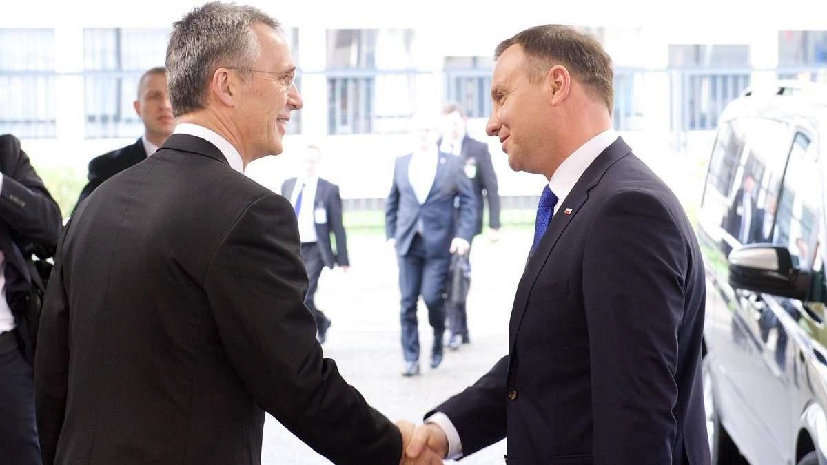 Дуда и Столтенберг обсудили помощь Украине