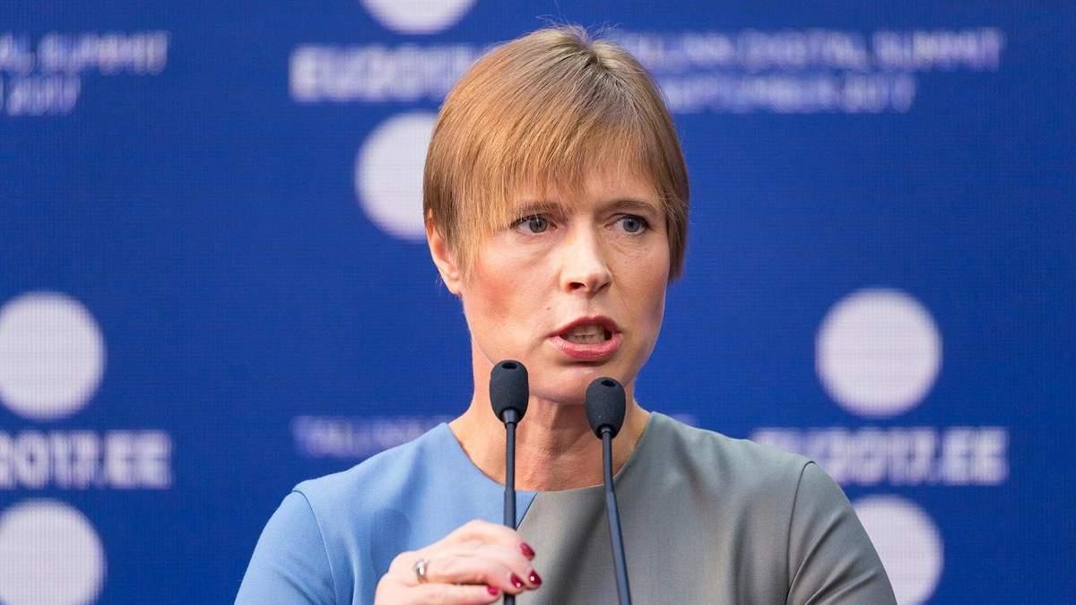 Президент Эстонии напомнила миру о захваченном Крыме