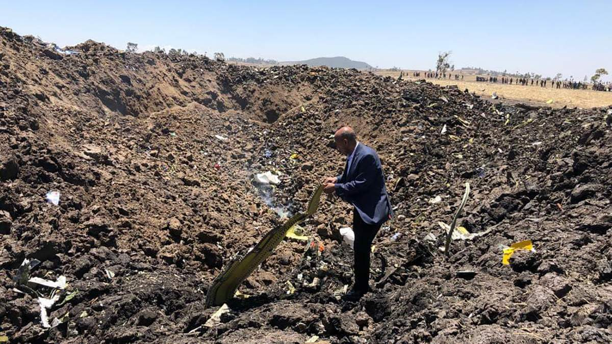 В Эфиопии разбился самолет Boeing 737 - погибли 157 человек
