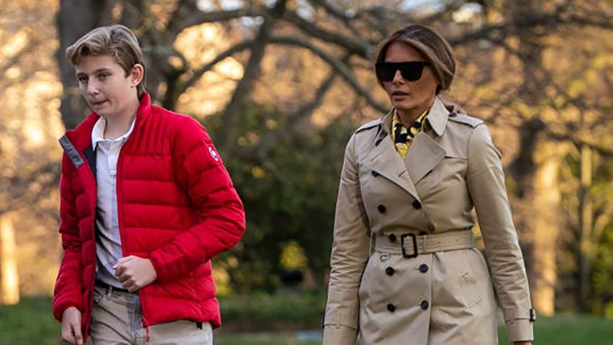Меланія Трамп з сином Берроном