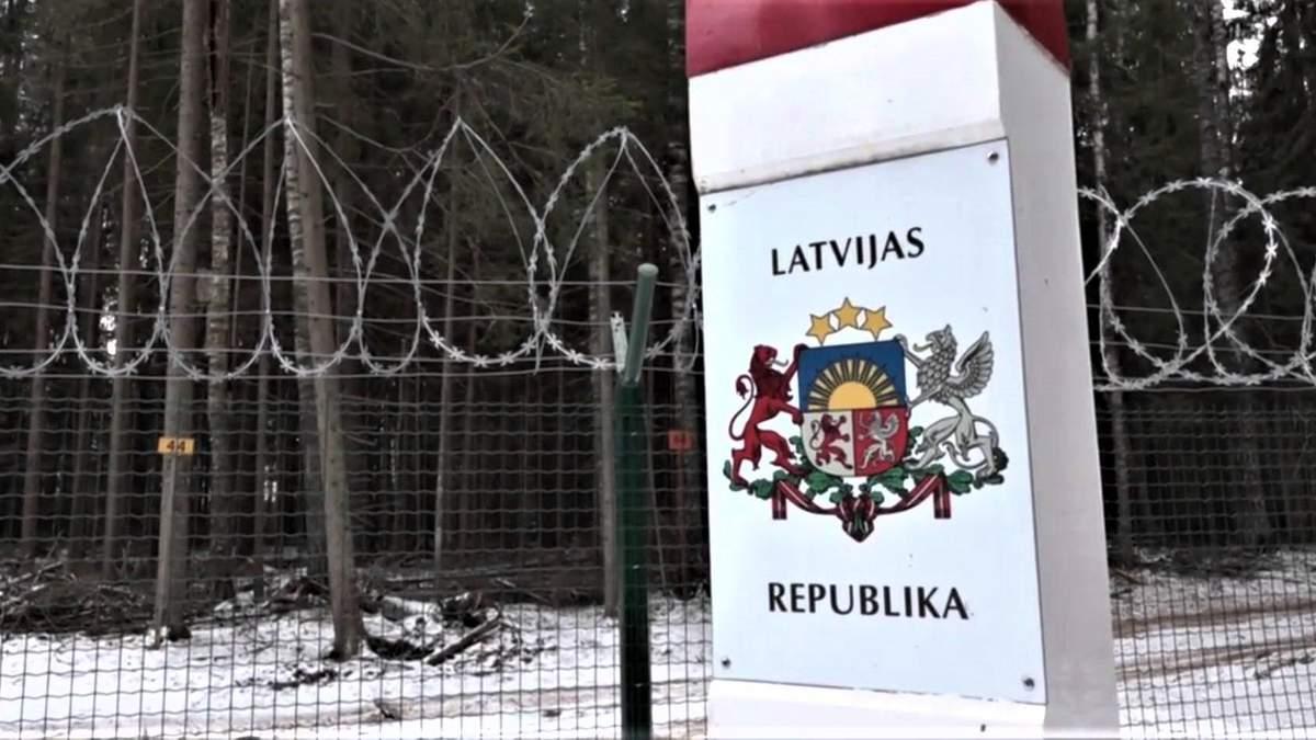 Латвия отгораживается от России стеной